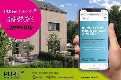 REIHENHAUS - PURE URBAN in Holzriegelbauweise - HA01 inkl. 1 Pkw-Abstellplatz und Garten