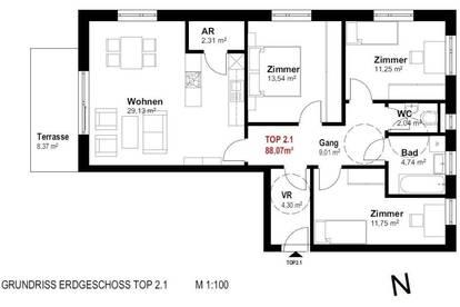 Erstbezug einer Gartenwohnung - Wohnpark Traunfall - Top 2.1