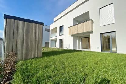 Erstbezug! Mietwohnung mit Eigengarten und Tiefgaragenstellplatz