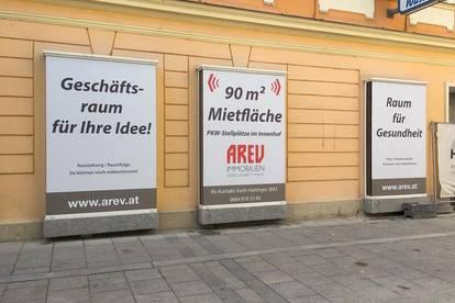 Adaptiertes Geschäftslokal mit Auslagenfläche in der Bahnhofstraße