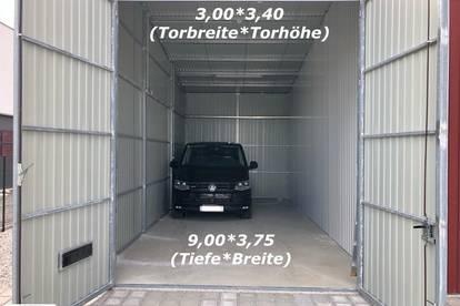 Garage/Lager ca. 9,00m x 3,75m mit 3,40m Durchfahrtshöhe PROVISIONSFREI!