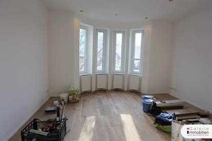 Top ausgestattete 1-Zimmer-Wohnung mit Erker und Tischlerküche - inklusive Garten und Parkplatz!