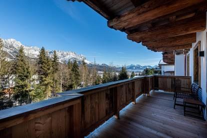 Kaiserblick & Skipiste Gartenwohnung im luxuriösen Chalet-Stil
