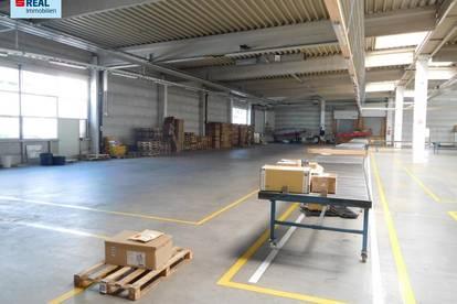 Lager- bzw. Produktionshalle mit Büros