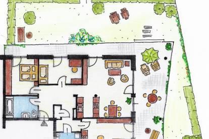 Vermietet !! Gartenwohnung - Ebelsberg - TOP 1 - Miete mit 54 m² Terrasse !!