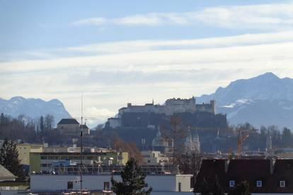 Traumhafter Festungs- u. Bergblick! Renovierte, großzügige 3-4-Zi.-Dachterrassenwohnung in Itzling-Salzachnähe