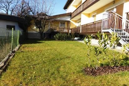 MIETE GARTENWOHNUNG GLANEGG: Schöne 77 m² 3 Zi. Wohnung inkl. 11 m² Süd-Loggia und ca. 50 m² Süd-Garten