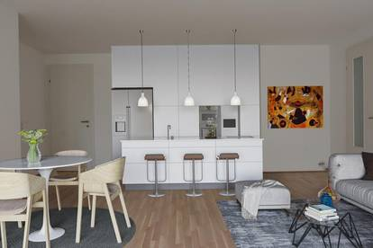 Eleganter Minimalismus!4-Zimmer-Gartenwohnung in modernem Architektur-Ensemble