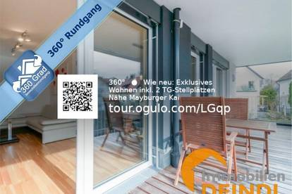 Neuwertige Terrassen-Wohnung mit Bergblick inkl. 2 TG-Stellplätzen Nähe Mayburger Kai