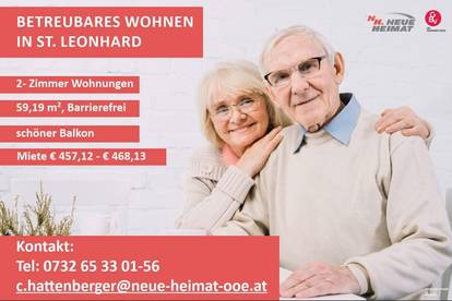 BETREUBARES WOHNEN! 2-ZIMMER-BALKONWOHNUNG IN ST. LEONHARD BEI FREISTADT!