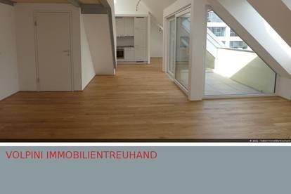 Atelier wie Wohnraum: Vielseitige Wohnung im Dachgeschoss!!! Nahe Donaupark.