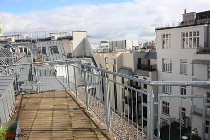 Helle 3 Zimmer Maisonette-Wohnung mit Terrasse und Kühlung in der Schottenfeldgasse - unbefristet