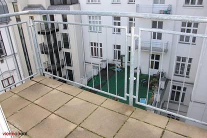 Helle 3,5 Zimmer Maisonette-Wohnung mit Balkon und Kühlung in der Schottenfeldgasse - unbefristet