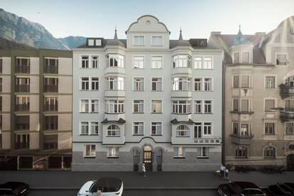 Altbauflair in Neubauqualität. Exklusive 5-Zimmer Wohnung im Stadtpalais im Saggen.