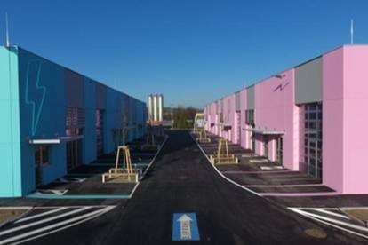 Hochwertige Verkaufs-, Produktions- und Lagerhalle mit Büro