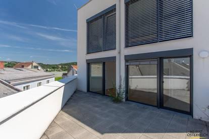 Pöchlarn - schöne 3-Zimmerwohnung mit extra großer Terrasse - traumhafter Ausblick inklusive (Top18)