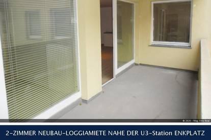 11.Krausegasse - 2-ZIMMER NEUBAU-LOGGIAMIETE NAHE DER U3-Station ENKPLATZ