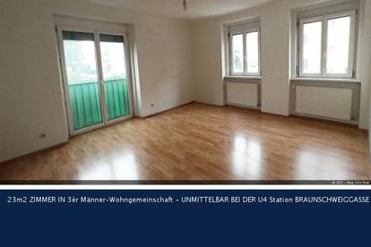 14. Penzingerstrasse 23m2 ZIMMER IN 3èr Männer-Wohngemeinschaft - UNMITTELBAR BEI DER U4 Station BRAUNSCHWEIGGASSE