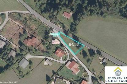 Ruhig gelegenes Baugrundstück in Steinberg am Rofan zu verkaufen: