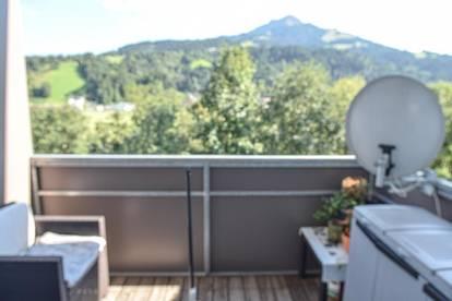 Garconniere mit Balkon und Blick auf das Kitzbüheler Horn