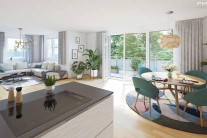 3-Zimmer Dachgeschosswohnung mit Terrasse und Blick ins Grüne