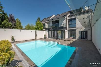 Edles Einfamilienhaus mit Pool und Einliegerwohnung am Fuße des Bisamberges!