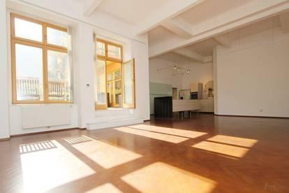 Über 150 m² Loft mit ruhiger Innenhofterrasse im 7. Bezirk!