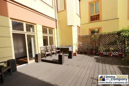 155 m² Altbau-Erdgeschoss-Loft in Ruhelage mit großer Innenhofterrasse im 7. Bezirk!