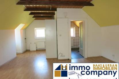40m² 1-Zimmer Dachgeschoss Wohnung / inkl. Heizung