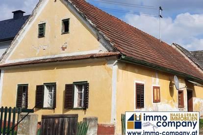 Altes Bauernhaus in idyllischer Landschaft des Südburgenlandes