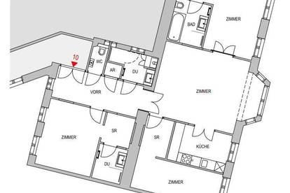 Wohnung in schönem Althaus mit gegliederter Fassade - unbefristet