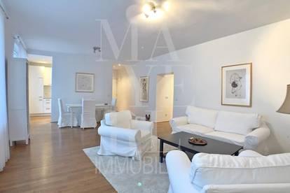 komplett möblierte Wohnung mit Balkon in zentraler Lage
