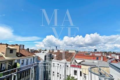 Dachgeschoss-Maisonette mit 2 Terrassen und Klimaanlage in Stilhaus - unbefristet