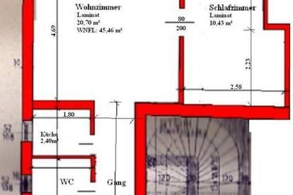 PROVISIONSFREI!  2 Zimmer DG Wohnung in Biedermannsdorf zu vermieten