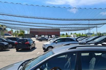 Liegenschaft mit ca. 2.000 m² Betriebsbaugrund, derzeit genutzt Autoverkaufsplatz.