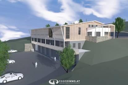 5771 Leogang: es entstehen Gewerbeflächen, Lager, Showroom, Kanzlei, Praxis, Büros !!! Lager von 82m²-230m², Büroflächen von 60m²-380m² jetzt kann man noch mitplanen !!