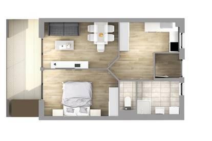 Sonnige 2-Zimmer-Wohnung mit Terrasse (WG-tauglich)