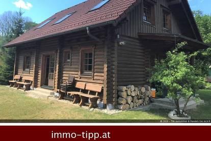 Payerbach-Reichenau! Original Finnisches Blockhaus mit perfekter Wohnqualität