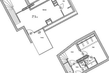 Hübsche Maisonette - Terrassenwohnung - zu mieten 1200 Wien