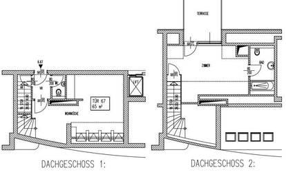 Nette Maisonette - Terrassenwohnung - zu mieten 1200 Wien