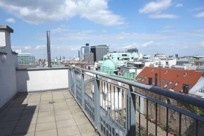 Terrassenhit: Drei-Zimmer Maisonette-Wohnung mit Terrassen und tollem Ausblick - Miete 1010 Wien