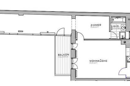 Neubaugasse: modern ausgestattete 2-Zimmer Wohnung mit Balkon - zu mieten 1070 Wien