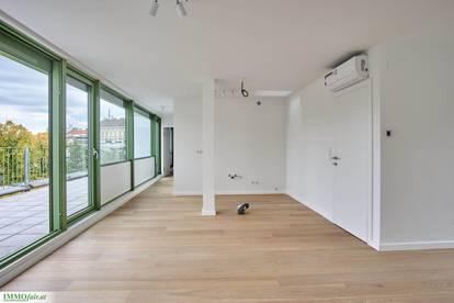 Parkview! Uneinsichtiges Design Penthouse mit großzügigen Terrassenflächen gleich beim Josef-Strauss-Park