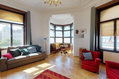 Prachtvolle Altbauwohnung - Möblierung optional