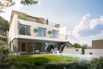 Grünruhelage - Villa mit flexiblem Grundriss Neubau in Hinterbrühl mit Pool