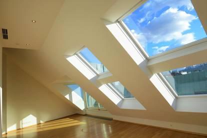Deluxe-City-Penthouse auf 2 Ebenen, 2 Terrassen mit Blick zum Stephansdom