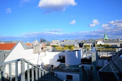 City-Penthouse auf 2 Ebenen, 2 Terrassen mit Blick zum Stephansdom