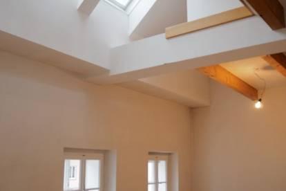 Außergewöhnliche 3,5 Zimmer Dachgeschoss-Maisonette im Zentrum