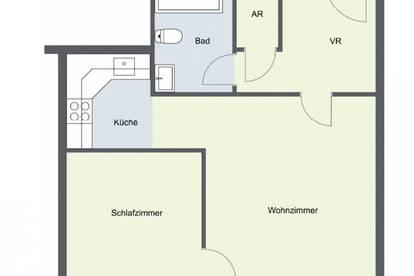 perfekter Grundriss - 2-Zimmerwohnung in Top Lage