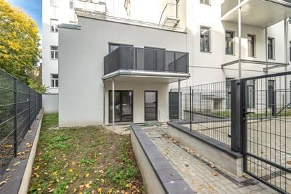 ++NEU++ 3-Zimmer Neubau-Maisonette mit Garten u. Balkon, Atelierwidmung!
